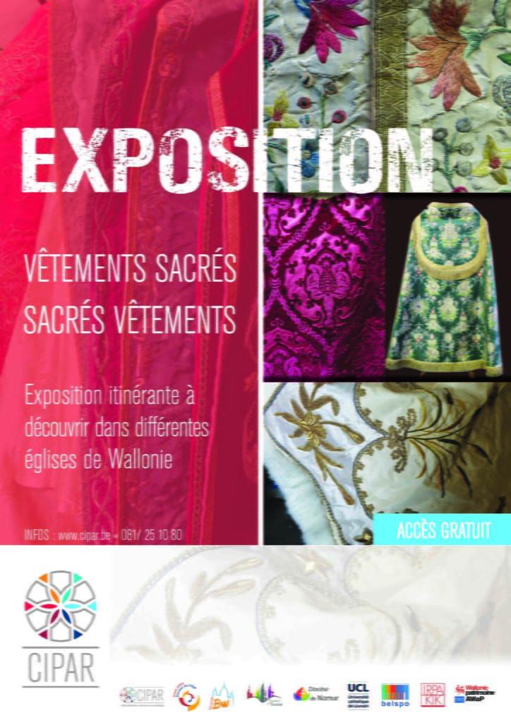 Affiche promotionnelle de l'exposition des textiles