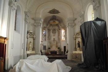 Vue intérieure de l'église d'Huppeye