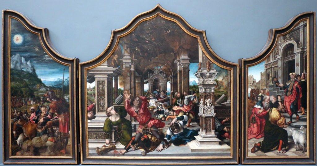 Bernard Van Orley Polyptique de Job et de Lazare 1521 Bruxelles MRBAB