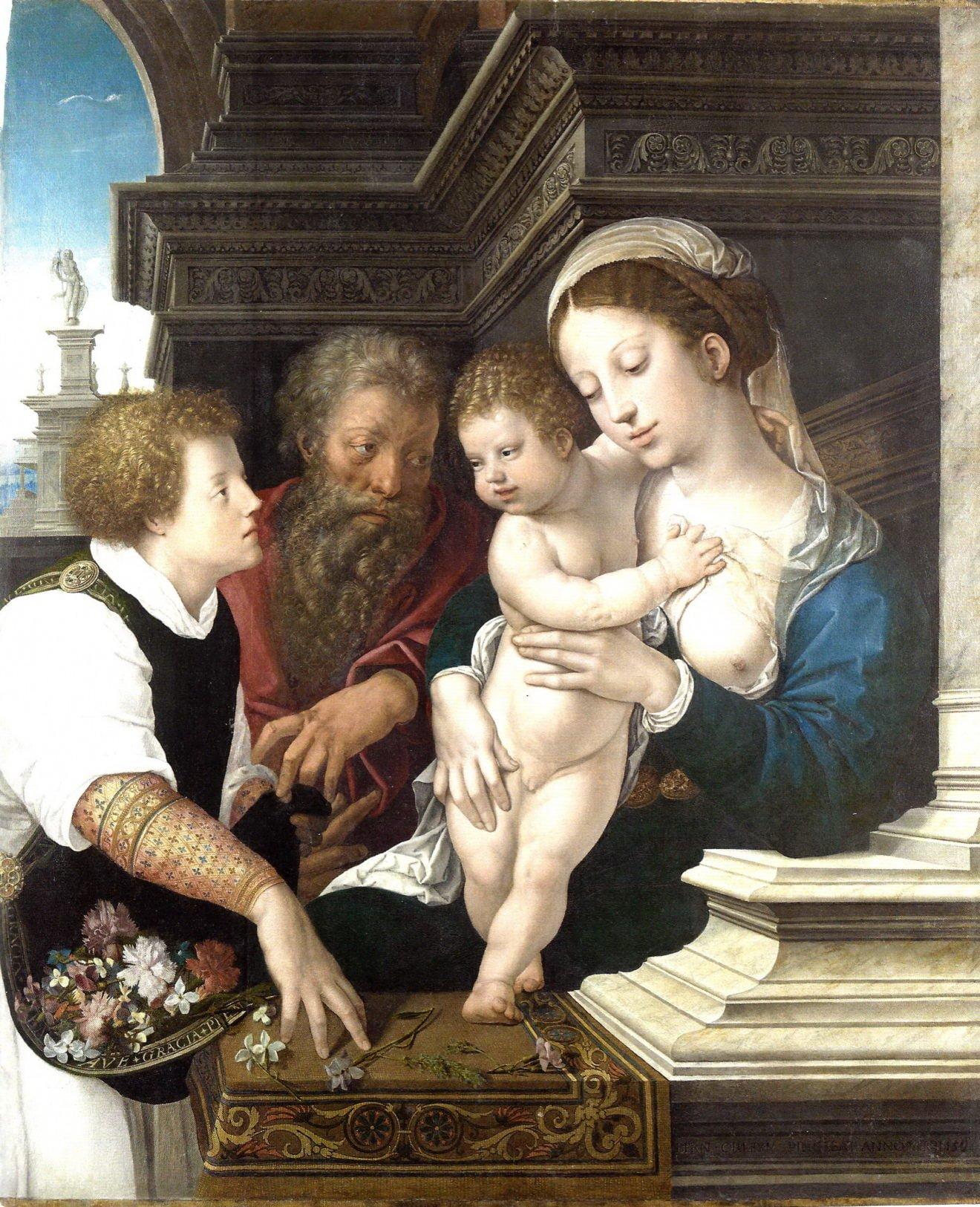Bernard van Orley Sainte Famille 1521 Paris Musée du Louvres