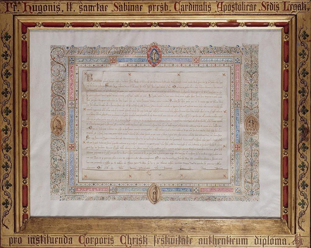 Diplôme Fête Dieu Liège (Grand Curtius)