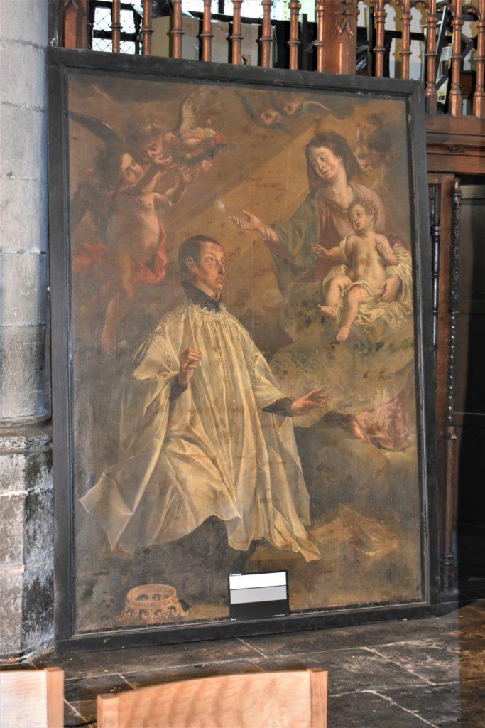 Saint-Louis de Gonzague aux pieds de la Vierge