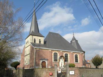 Vue extérieure de l'église Saint-Servais de Lantin