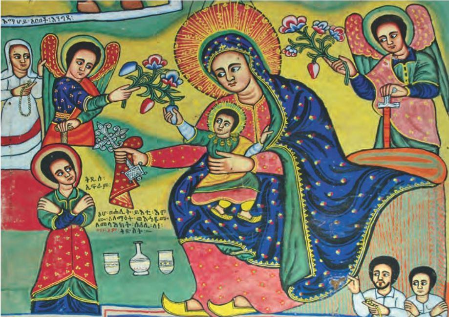 Jésus et Marie. Lac Tana. Eglise Abuna Betre Maria de Bahar Dar