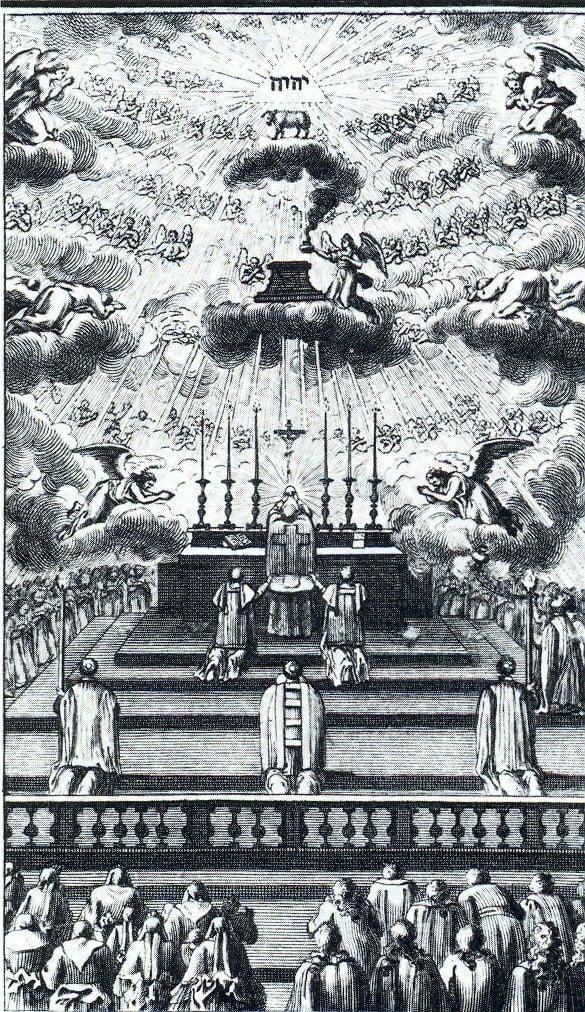 Messe gravure 1760