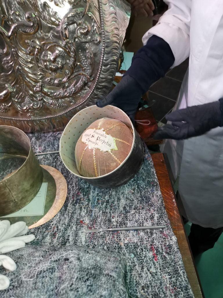 coffret contenant les reliques