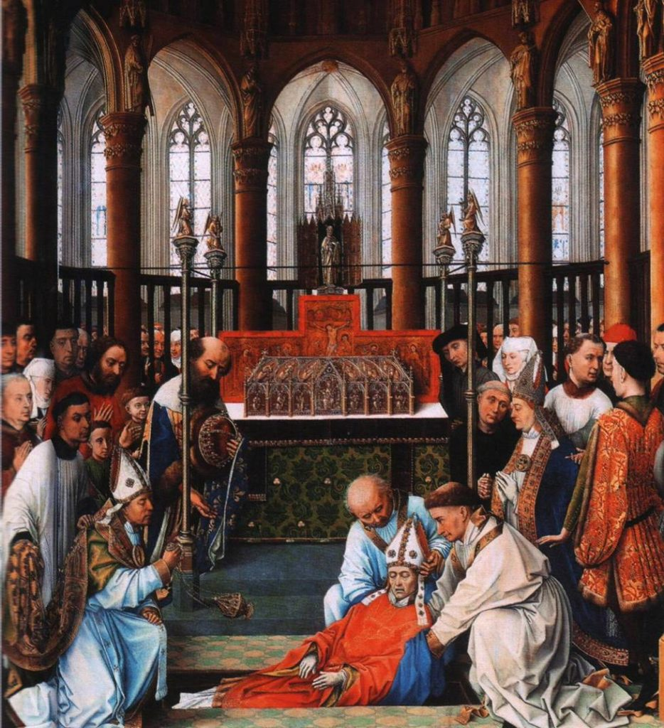 Rogier Van Der Weyden_Exhumation de saint Hubert
