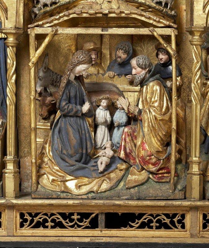 Nativité_retable Musée de la ville de Bruxelles_15e siècle
