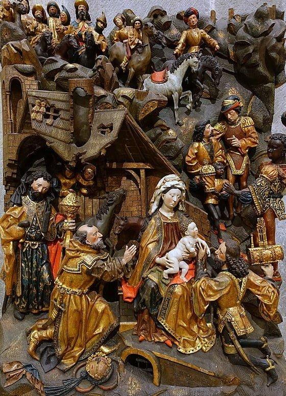 Arnt_Fragment de retable_Adoration des Mages_Cologne