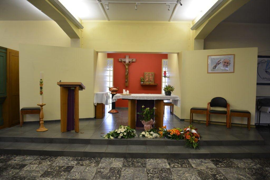 Vue intérieure de l'église de Mehagne