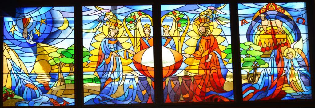 Vitrail de l'église de Mehagne