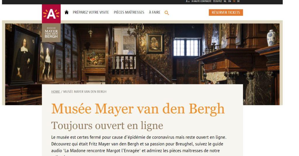 Musée Mayer Van Den Bergh_Toujours ouvert en ligne