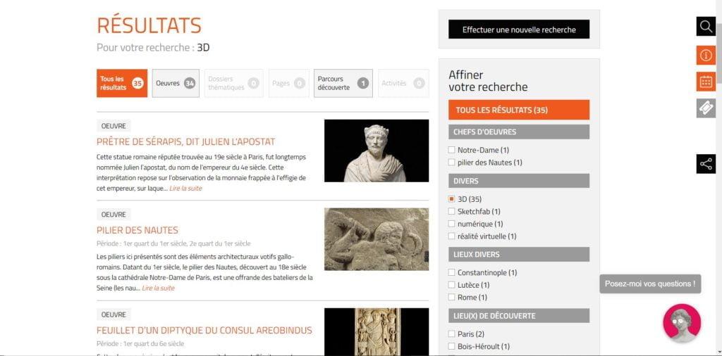 Oeuvres en 3D_Musée National du Moyen Âge