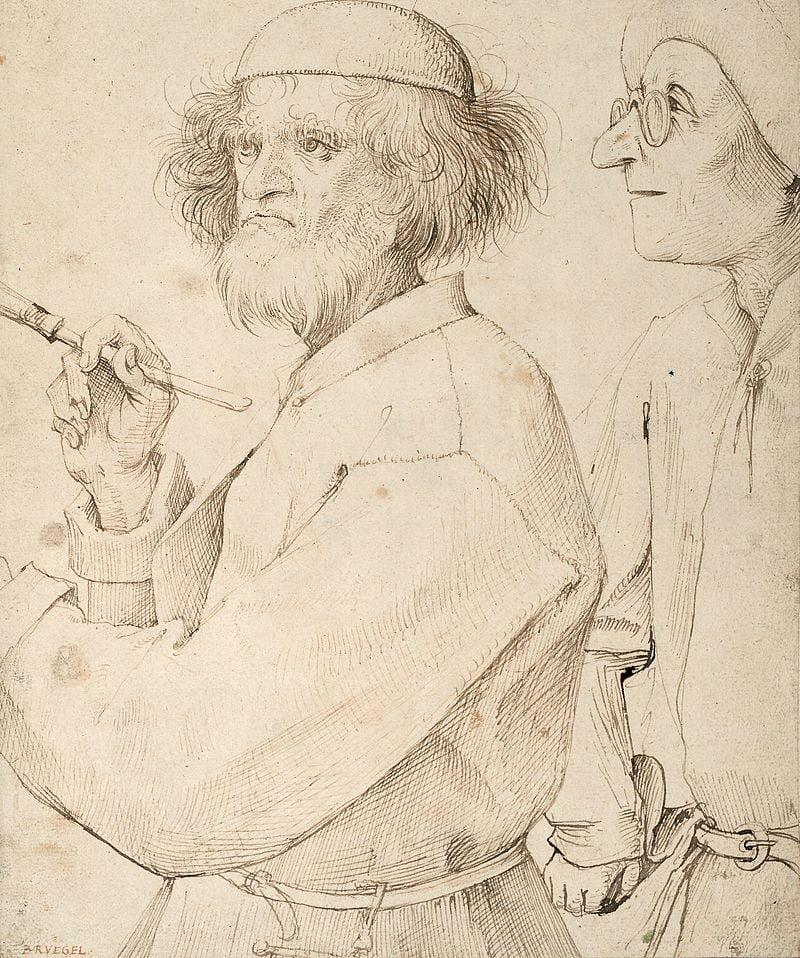 Pieter Bruegel l'Ancien_Le peintre (lui-même) et l'acheteur