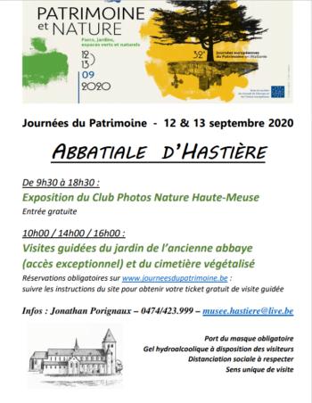 12-13 Septembre – Journées du Patrimoine 2020 « Patrimoine et Nature » à Hastière.