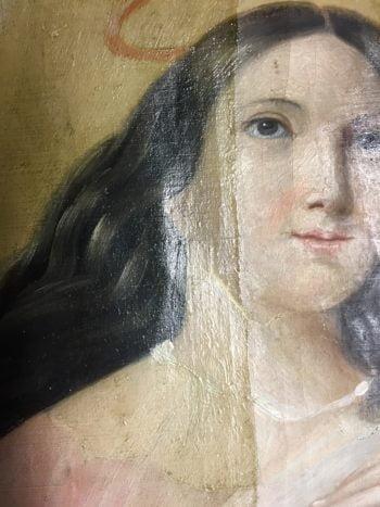 Restauration : deux tableaux à l'église de Dave