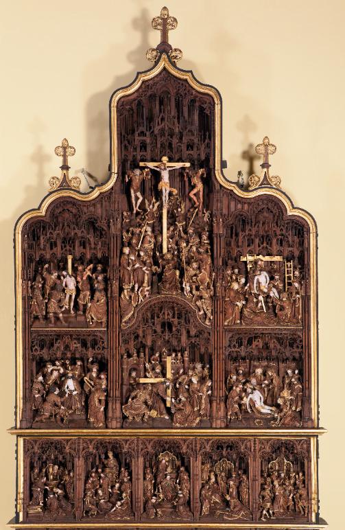 Le Retable de la Passion et de la Vie de saint Denis de Paris, daté de 1530-1533 conservé à la collégiale Saint-Denis à Liège