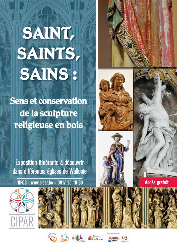 affiche_expo_saint_saints_sains_Sens_et_conservation_de_la_sculpture_religieuse_en_bois