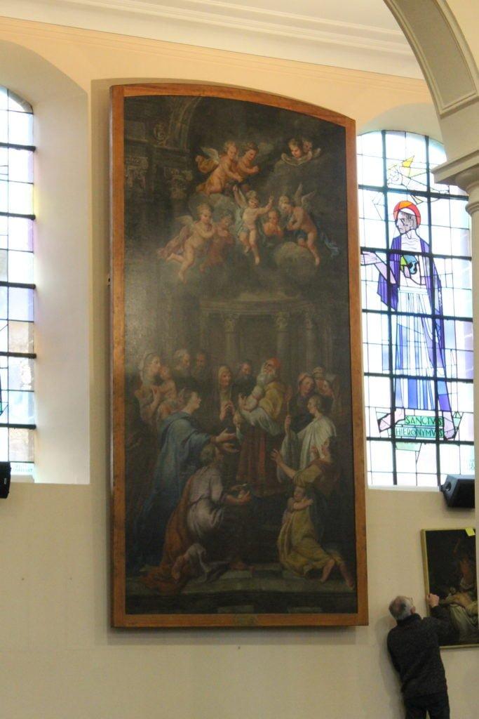 deux_tableaux_de_Maximilien_De_Haese_Ottignies_après_restauration