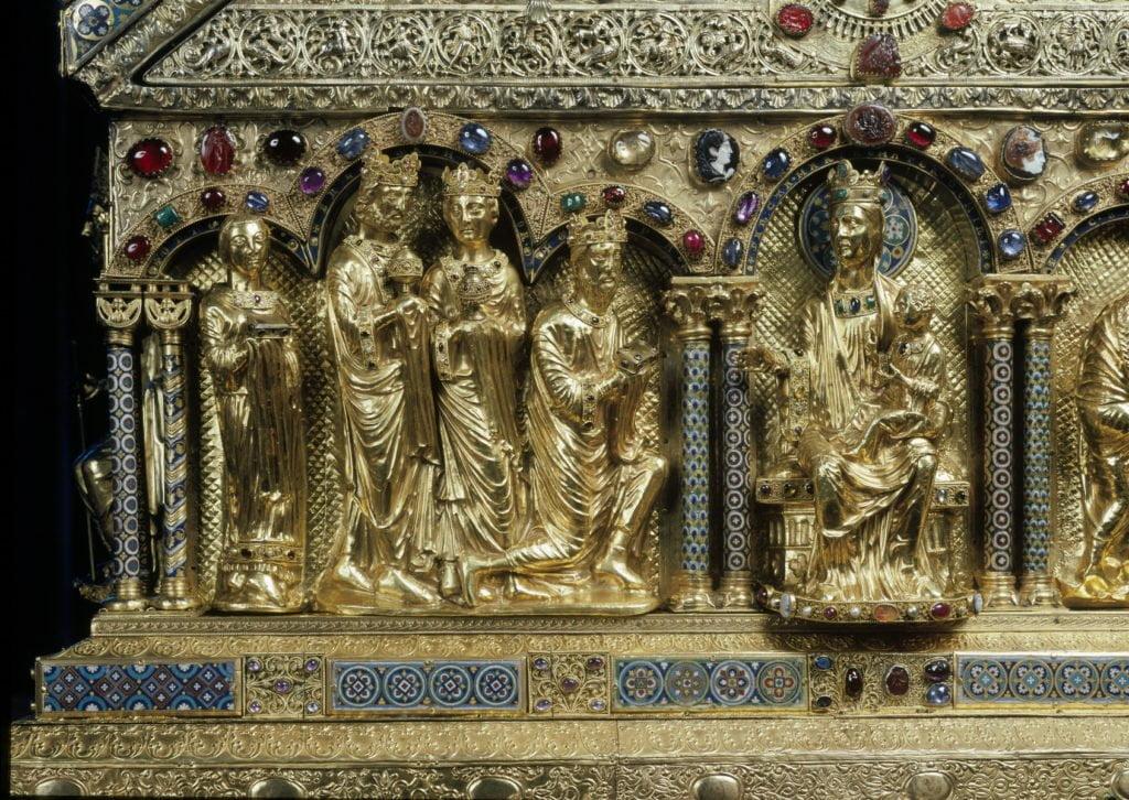 L'Adoration des Rois mages, sur la châsse des Rois mages de Cologne