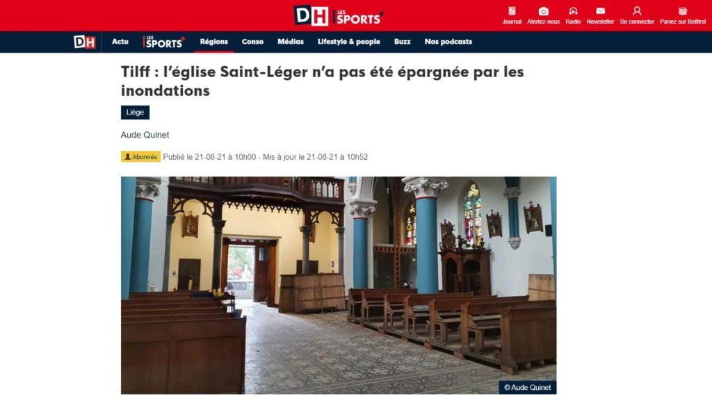 Tilff : l'église Saint-Léger, DH. Article 21.08.2021