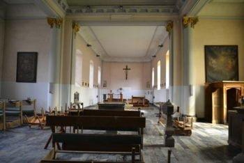 Église du Nom de Jésus à Chanxhe : un coffre-fort avec des archives et des pièces d'orfèvrerie