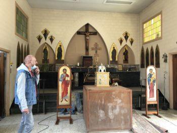 Église Sainte-Bernadette à Angleur :  des livres inondés et des icônes endommagées