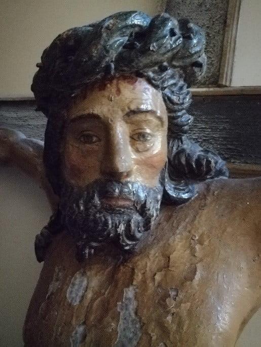 Détail du Christ de la Grande Croix. Leuze-en-hainaut.