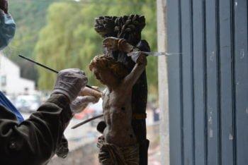 Une opération de sauvetage d'œuvres d'art à l'église de Fraipont